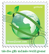 greenzoner stamp - take free gifts and make world greener